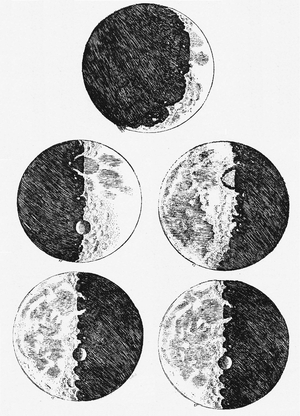 Sketches of the Moon from Galileo's Sidereus Nuncius